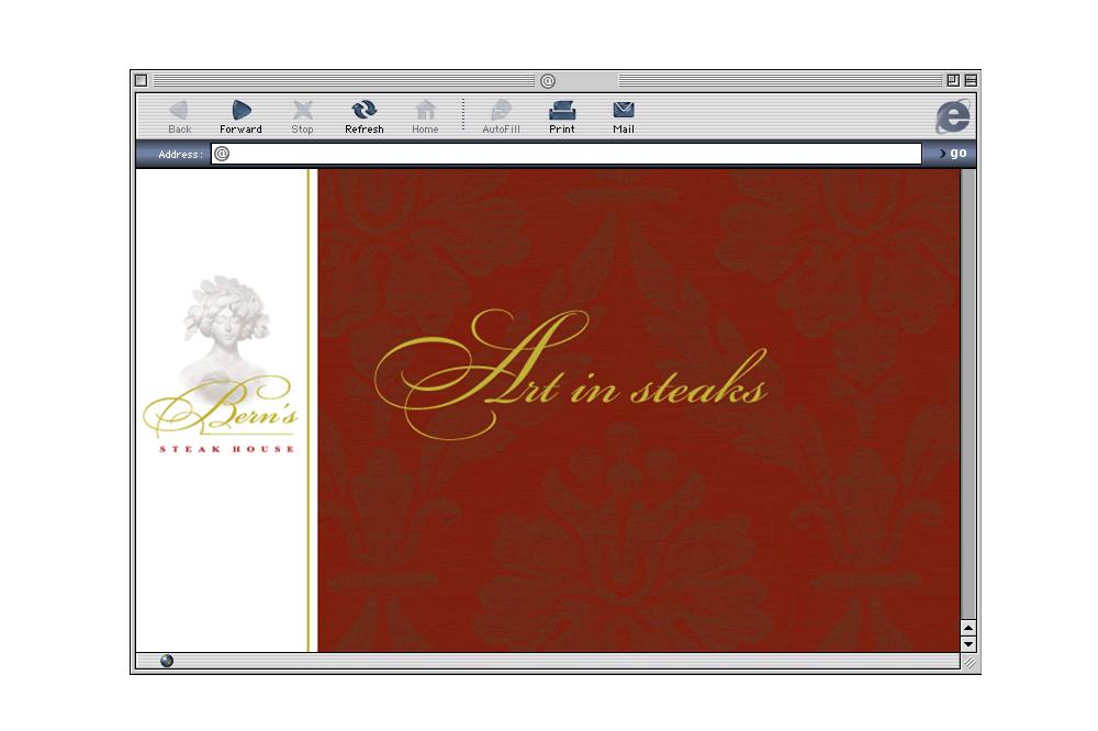 Bern's Steakhouse Website Design