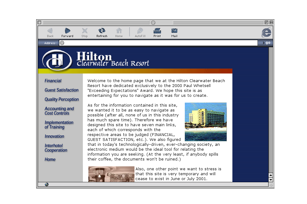 Hilton Resort Website