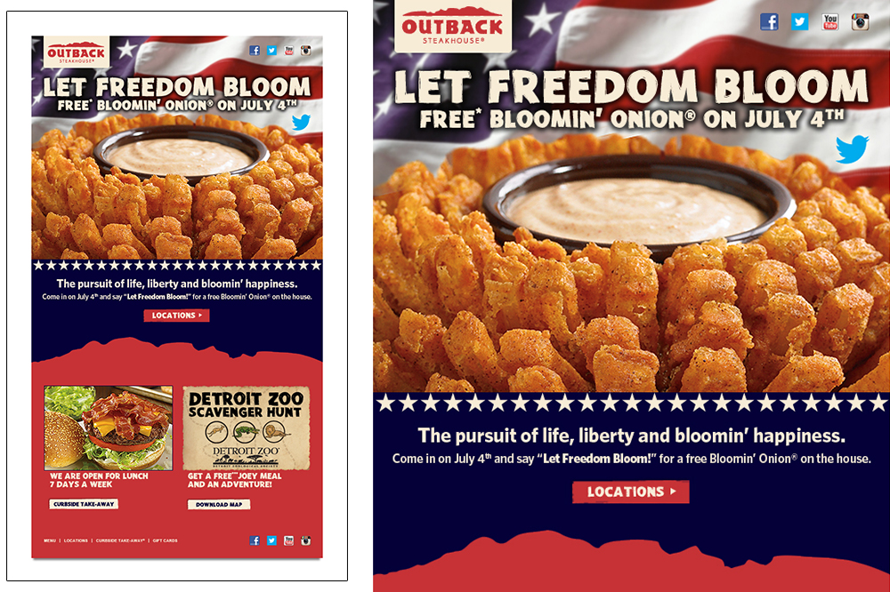 Outback Email Design