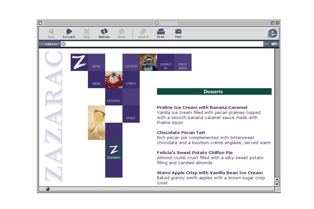 Zazarac Interior Web Page